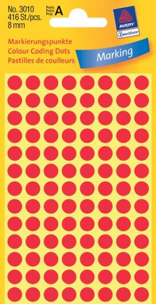 Etiketten 8mm rot 416 St./Pack Markierungspunkt