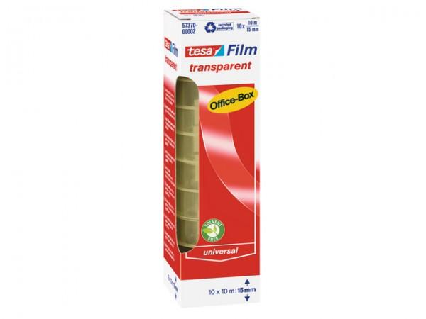 Tesafilm 10mx15mm Office-Box 10 St./Pack transparent