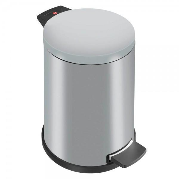 Mülleimer Hailo ProfiLine Solid 12 l silber Innenbehälter Kunststoff / Klappdeckel Stahlblech