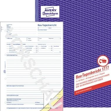 ZWECKFORM BAU-TAGESBERICHT A4 3X40BL SD