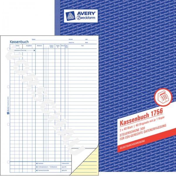 Zweckform Kassenbuch A4 2x40 Bl. selbstdurchschreibend / Durchschlag gelb