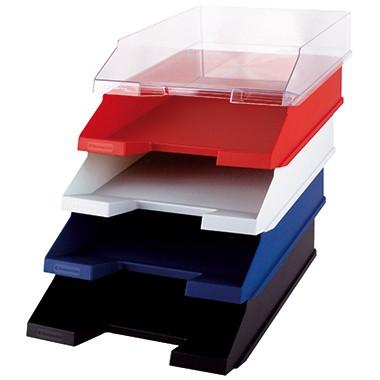 Ablagekorb Soennecken A4 Polystrol blau Maße: 25,2x6,5x34,5cm (BxHxT)