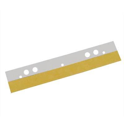 Abheftstreifen selbstklebend 125mm Länge transparent , 7- fach Lochung