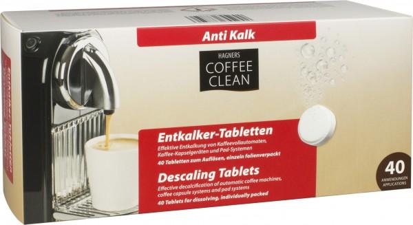 Entkalker Tabletten Coffee Clean 40 Stück Hagners Coffee Clean a 15 g
