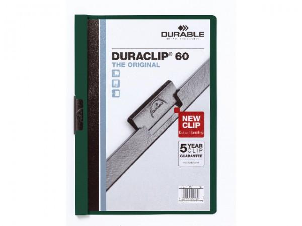 Klemmappen A4 Duraclip 60 f.60 Blatt dunkelgrün 32