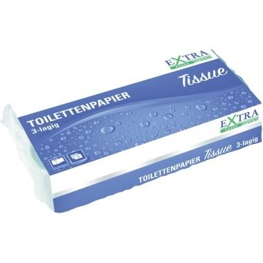 Toilettenpapier 3-lagig Tissue weiß 250 Bl./Rol. ,8 Rollen/Pack